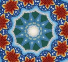 Mandala : Flower Burst  Sticker