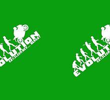Biker Evolution Eat, Sleep, Rev... Repeat Green mug by outlawalien