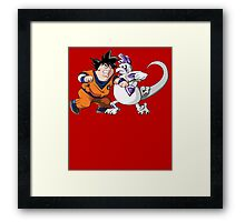 Family Guy Z - Goketer VS Cheeza - 02 Framed Print