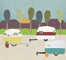 caravan park by Sandy Mitchell