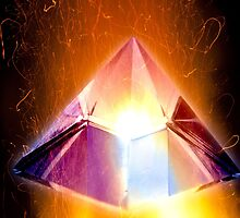 burning crystal pyramid by bruno paolo benedetti