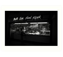 Milk Bar Noir Art Print