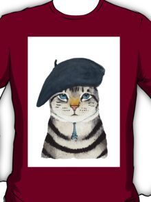 Charming French Cat  T-Shirt