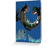 CAC Wirraway Wing Warp T-shirt Design Greeting Card