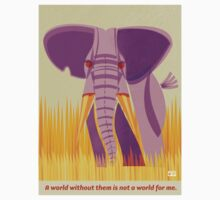 Elephant Conservation Illustration Kids Clothes