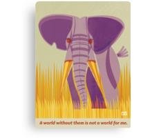 Elephant Conservation Illustration Canvas Print