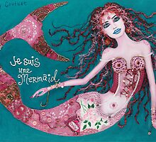 Je Suis Une Mermaid - Purple with Teal by Sarina Tomchin