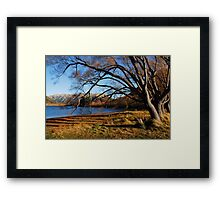 Lakeside in the Cantebury Hills Framed Print