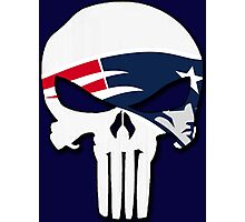 New England Patriots Punisher Logo Photographic Print