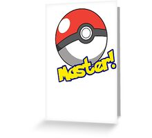 Pokémon Master Greeting Card