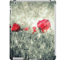 poppies & letters  iPad Case/Skin