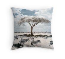 Infrared acacia Throw Pillow