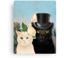 Charming Cats Wedding  Canvas Print