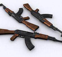 Ak-47 model 1955 by SenorFreebie