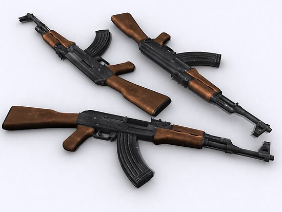 Ak-47 model 1955 by SenorFreebie