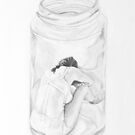 woman in jar by baby  guerrilla