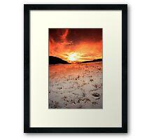 Snow Sunrise Framed Print