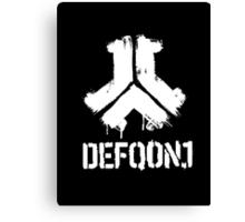 Defqon. 1 Logo and Text Canvas Print