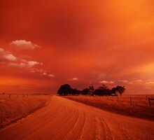 bushfire sky II by Tony Middleton