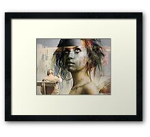 Beach Wall Maiden Framed Print