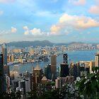HK Panorama at Sunset - Hong Kong. by Tiffany Lenoir