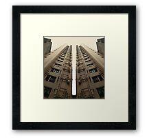 Hong Kong Apartments with sweeping angle Framed Print
