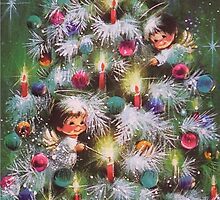 Vintage Christmas Card #4 by Tracy Faught