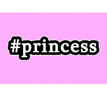 Princess - Hashtag - Black & White Photographic Print