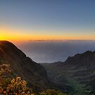 Sunset on the Na Pali Coast by Geoffrey Chang