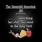 The Essential shopping list-throw pillow, tote bags, and travel mugs by sarnia2
