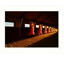 Queenscliff Pier Charm Art Print