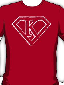 K letter in Superman style T-Shirt