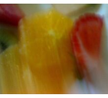 Blurred Fruit Platter Triptych by Craig Watson