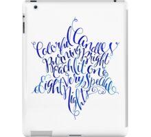 Star of David Hanukkah Chanukah Print Watercolor Typography iPad Case/Skin