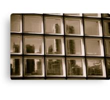 Through a Window darkly Canvas Print