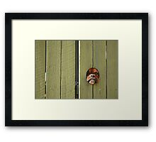 """Don't Make Me Come Out There!"" Framed Print"
