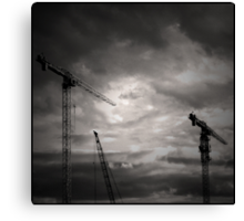 SOMBRES GRUES Canvas Print
