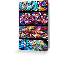 Graffitee'd (Black) Greeting Card