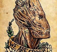 We Are Groot Old School Design by TheFunkMaster3K