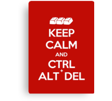 Keep Calm - Ctrl + Alt + Del Canvas Print