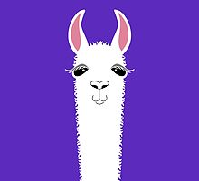 LLAMA PORTRAIT #6 by Jean Gregory  Evans