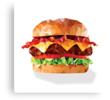 Geometric Bacon Cheeseburger Canvas Print
