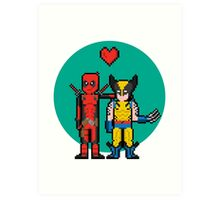 Deadpool Heart Wolverine  Art Print
