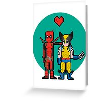 Deadpool Heart Wolverine  Greeting Card