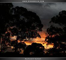 Backyard Sunset by Ryan Golla