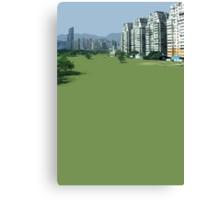 hong kong green Canvas Print