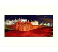 The Tower of London Poppies - 1 Art Print