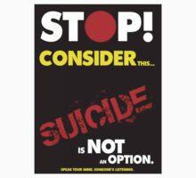 """Stop!"", Suicide Awareness Campaign by Chris Dixon"