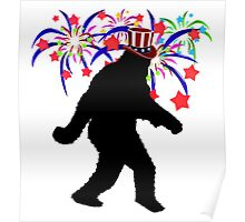 Fireworks Squatchin' Poster