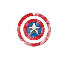 Cap America Shield with star Photographic Print